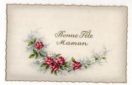 Bonne Fête Maman --Carte Mignonnette  -1956 --  Fleurs , Roses - Fêtes - Voeux