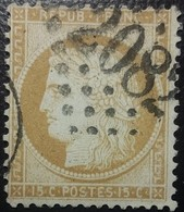 FRANCE Y&T N°55 Cérès 15c Bistre. Oblitéré Losange GC. N°2082 - 1871-1875 Cérès