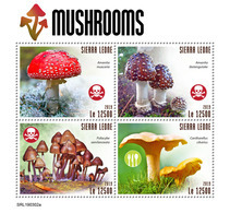 SIERRA LEONE 2019 - Mushrooms. Official Issue. - Funghi