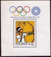 Poland 1972 Mi Bl 51 Olympiad In Munich 1972. Sport, Archery. Olympic Symbol. MNH** W 1201A - 1944-.... République