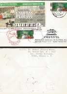 J) 1998 MEXICO, MILITARY SCHOOL OF CLASSES OF THE ARMS, LOTTERY TICKET, NATIONAL LOTTERY, DAY OF THE ARMY, AMEXFIL, MEXI - Mexique