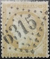 FRANCE Y&T N°55 Cérès 15c Bistre. Oblitéré Losange GC. N°6315 - 1871-1875 Ceres