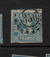 Bayern 1849 3K Blue Fine Used - Bavaria