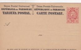 STATIONARY ENTIER TARJETA POSTAL REPUBLICA DEL PARAGUAY 2 CTVS CIRCA 1890s - BLEUP - Paraguay