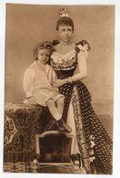 Espagne -- Famille Royale --El Rey (Alfonso XIII) Y Su Augusta Madre  En 1890 - Espagne