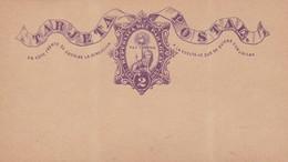 STATIONARY ENTIER TARJETA POSTAL REPUBLICA DEL PARAGUAY 2 CTVS CIRCA 1880s - BLEUP - Paraguay