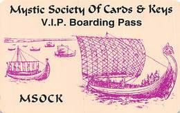 MSOCK VIP Boarding Pass Card - Casino Cards