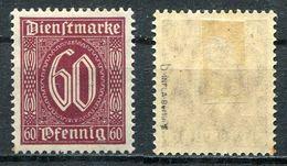D. Reich Dienst Michel-Nr. 66b Ungebraucht - Geprüft - Dienstpost