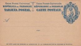 STATIONARY ENTIER TARJETA POSTAL REPUBLICA DEL PARAGUAY 3 CTVS CIRCA 1880s - BLEUP - Paraguay