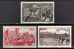 FRANCE 1939 - Y.T. N° 448 / 449 / 450 - NEUFS** - Frankreich