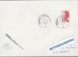 LSC 1988 - Ambulant - Cachet Convoyeur Et Griffe PARIS à BESANCON - D- - Poststempel (Briefe)