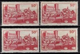 FRANCE 1939 -  Y.T. N° 449 X 4 - NEUFS** - Frankreich