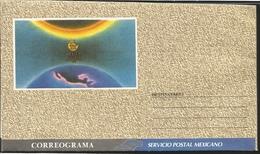 J) 1991 MEXICO, SUN ECLIPSE MAP, CORREOGRAM, XF - Mexico