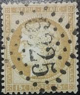 FRANCE Y&T N°55 Cérès 15c Bistre. Oblitéré Losange GC. N°6325 - 1871-1875 Ceres