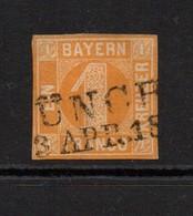 Bayern 1850 1K Yellow Good Used. - Bayern