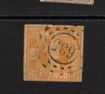 Bayern 1850 1K Yellow Good Used. Slight Thins - Bayern