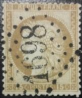 FRANCE Y&T N°55 Cérès 15c Bistre. Oblitéré Losange GC. N°1698 - 1871-1875 Ceres
