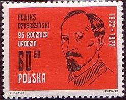 Poland 1972 Mi 2171 95th Birthday Of Felix Dzierżyński. Communist Politician. MNH** W 1203 - 1944-.... République