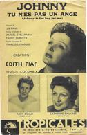 Johnny Tu N'es Pas Un Ange - Edith Piaf (p;Francis Lemarque ; M: Les Paul), 1953 - Música & Instrumentos