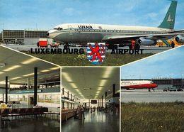 Luxembourg Aeroport Luxair Airplane Airport Postcard - Belgique