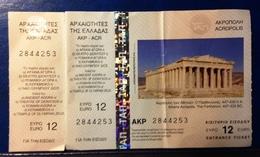 Ticket.Athens Acropolis, Greece. - Biglietti D'ingresso