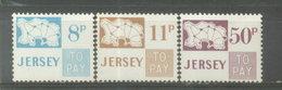JERSEY  ESTAMPILLAS - YVERT 18/20 TAXE  (#1058) - Jersey