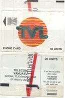 Vanuatu - VAN-T-01Ba, TVL Logo 30 - SC7 AFNOR, 7/93, C37141962. Mint NSB - Vanuatu