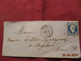 Devant De Lettre De 1858 à Destination D' Anglure - Marcophilie (Lettres)