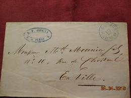 Devant De Lettre De 1851 Paris Intra-muros - Marcophilie (Lettres)