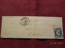 Lettre De 1855 à Destination De St Mihiel - Marcophilie (Lettres)