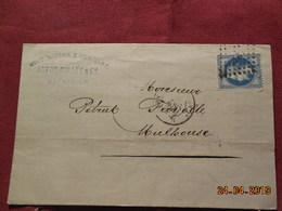 Lettre De 1867 à Destination De Mulhouse - Marcophilie (Lettres)