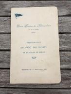 Menu Inauguration Du Parc Des Sports De La Croix Berny 1931 Union Sportive Du Métropolitain Antony Hôtel Claridge Paris - Menus