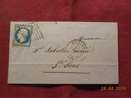 Lettre à Destination De St Pons - Poststempel (Briefe)