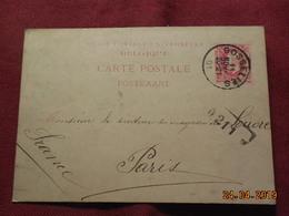 Entier Postal De 1901 à Destination De Paris - Entiers Postaux