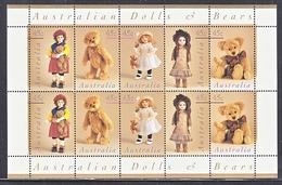 AUSTRALIA  1601 A   AT FACE VALUE  **  ANTIQUE  DOLLS & BEARS - 1990-99 Elizabeth II