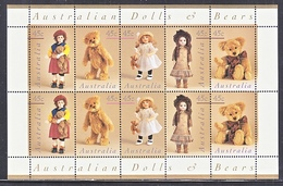AUSTRALIA  1601 A   AT FACE VALUE  **  ANTIQUE  DOLLS & BEARS - Dolls