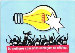 Portugal U2 Music Band Vertigo Tour Advertising Postcard - Werbepostkarten