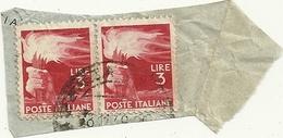 DEMOCRATICA  3LIRE  COPPIA  USATA - 1946-60: Gebraucht