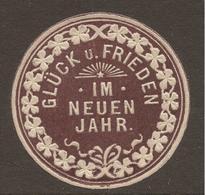 LETTER SEAL. ADVERTISING. GERMANY. NEW YEAR - GLUCK UND FRIEDEN. - Werbung