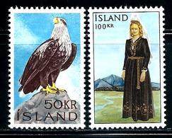 "Iceland         "" Eagle  & National Costume ""       Set     SC# 378-79  MNH**   SCV$ 21.50 - 1944-... Republique"