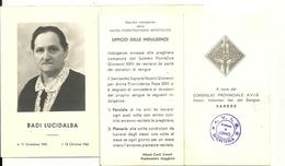 IMMAGINETTA -  X  MORTO  - CON A  CURA  CONSIGLIO  A.V.I.S.--SANGUE  VOLONTARI--   VARESE--1965 - Altre Collezioni