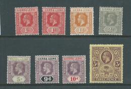 Sierra Leone 1912 - 1921 KGV Part Set Of 7 To 3d Mint - Sierra Leone (...-1960)
