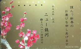 110 - 462 :   2 Different Cards Similar As Pictured 50u  With  Flowers - Japon