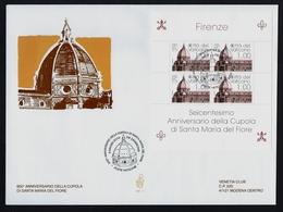 """2018 VATICANO """"600° ANNIVERSARIO CUPOLA S. MARIA DEL FIORE"""" FDC VENETIA - FDC"""