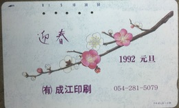 110 - 447 :   7 Different Cards Similar As Pictured 50u  With  Flowers - Japon