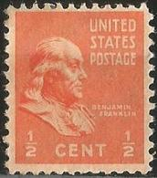 UNİTED STATES 1938 - Mi. 410A, Benjamin Franklin (1706-1790), Leading Author And Politician - Oblitérés