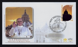 "2013 VATICANO ""SUA SANTITA' FRANCESCO"" BUSTA RICORDO (POSTE VATICANE) - FDC"