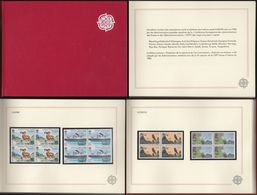Europe Cept: Minister Book - Ministerbuch, Ministerjahrbuch Europa  MJE 1986 Rot, Leinen-Einband, Leinen-Schuber ! RR X - Autres - Europe