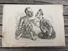 Gravure Le Diable Et Sa Grand Mère Caricature De J. J. Ulrich D'après Paul Usteri ( Satirique Politique ) - Documents Historiques