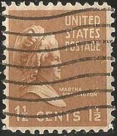 UNİTED STATES 1938 - Mi. 412A O, Martha Washington (1731-1802), Former First Lady Of The USA - Oblitérés